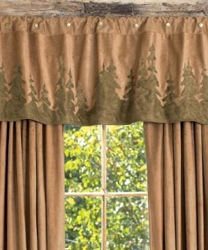 Forest Scene Rustic Valance Rustic Window Accessories 0 300x360