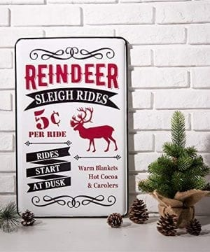 Glitzhome Metal Enamel Sign Farmhouse Style Christmas Home Decor 0 0 300x360