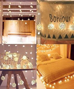 40 LED Globe Rattan Ball Warm White String Lights - Farmhouse Goals