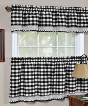 GoodGram Buffalo Check Plaid Gingham Custom Fit Window Curtain Treatments By Assorted Colors Styles Sizes 0 0 300x360