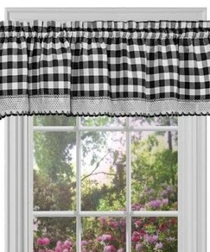 GoodGram Buffalo Check Plaid Gingham Custom Fit Window Curtain Treatments By Assorted Colors Styles Sizes 0 1 300x360