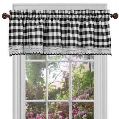 GoodGram Buffalo Check Plaid Gingham Custom Fit Window Curtain Treatments By Assorted Colors Styles Sizes 0 1