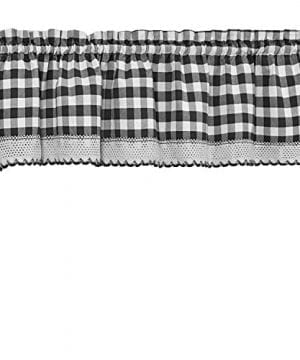 GoodGram Buffalo Check Plaid Gingham Custom Fit Window Curtain Treatments By Assorted Colors Styles Sizes 0 300x360