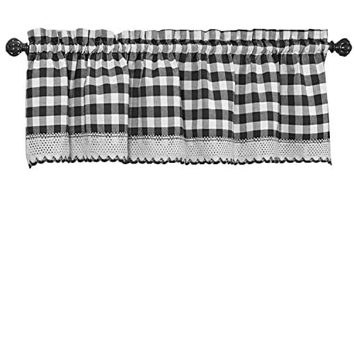 GoodGram Buffalo Check Plaid Gingham Custom Fit Window Curtain Treatments By Assorted Colors Styles Sizes 0