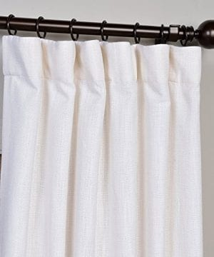 Half Price Drapes Heavy Faux Linen Curtain 0 0 300x360
