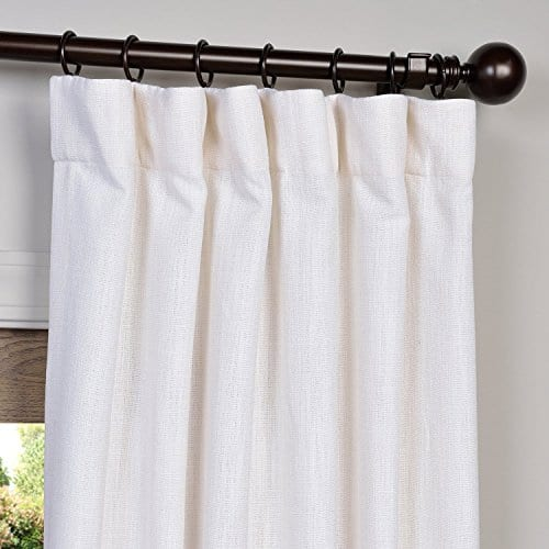 Half Price Drapes Heavy Faux Linen Curtain 0 0