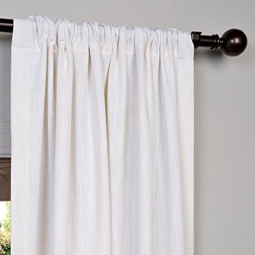 Half Price Drapes Heavy Faux Linen Curtain 0 1