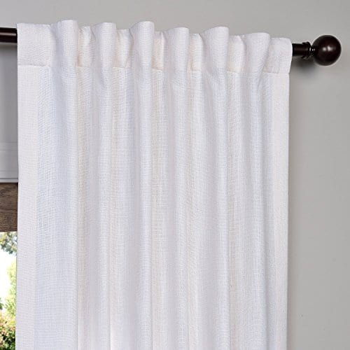 Half Price Drapes Heavy Faux Linen Curtain 0 2