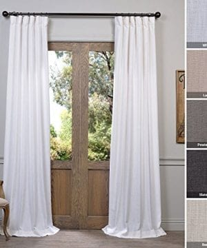 Half Price Drapes Heavy Faux Linen Curtain 0 300x360