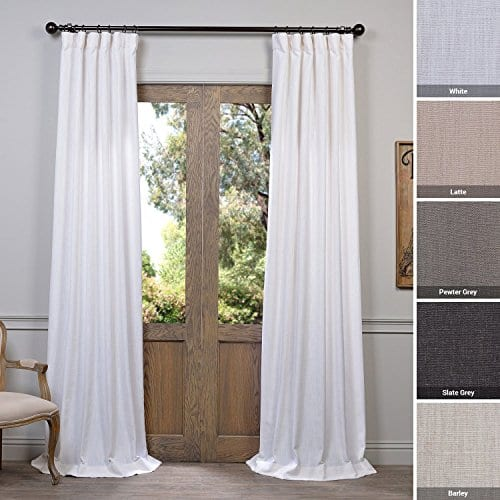 Half Price Drapes Heavy Faux Linen Curtain 0