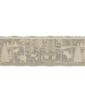 Heritage Lace 6405NA 6015 Natural 60X15 Lodge Hollow Valance 0 300x360