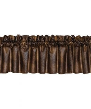 HiEnd Accents Unisex Rustic Faux Leather Valance Vl1005 0 300x360