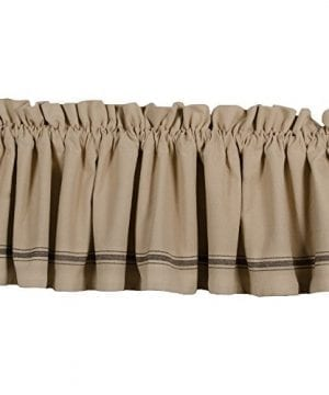 Home Collections By Raghu 72x155 Grain Sack Stripe Black Valance 0 300x360
