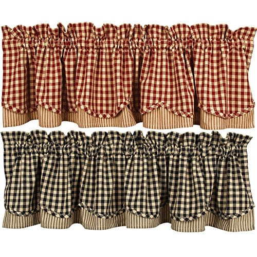 Home Collections By Raghu Heritage House Check Fairfield Valance 0