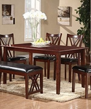 Homelegance Brooksville 6 Piece Dining Table Set With Bench Cherry 0 1 300x360
