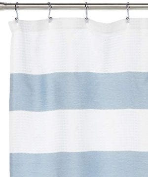 JLA Home INC Madison Park Spa Waffle Shower Curtain With 3M Treatment Water Repellent Stain Resistant 0 0 300x360