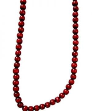 Kurt Adler 9 Foot Burgundy Wooden Bead Garland 0 300x360