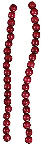 Kurt Adler Red Wooden Cranberry Garland TN0066BURG 0 0
