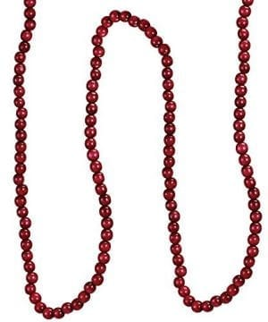 Kurt Adler Red Wooden Cranberry Garland TN0066BURG 0 300x360