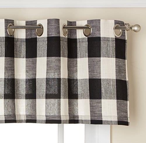 LORRAINE HOME FASHIONS 09570 63 00146 Black Courtyard Grommet Window Curtain Panel 0