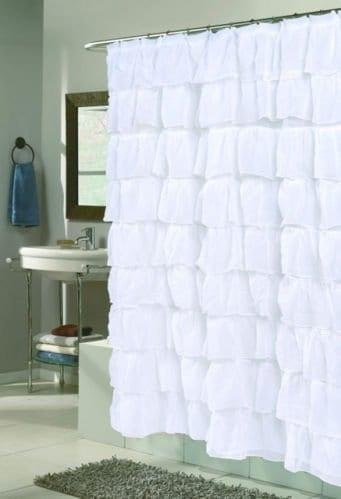 Lorraine Home Fashions 08383 SC 00001 Gypsy Shower Curtain White 70 X 72 0