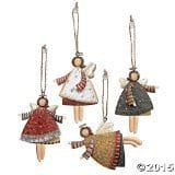 Lot Of 12 Dancing Tin Angels Christmas Tree Ornaments 0