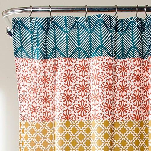 Lush Decor Bohemian Stripe Shower Curtain 0 1