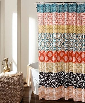 Lush Decor Bohemian Stripe Shower Curtain 0 300x360