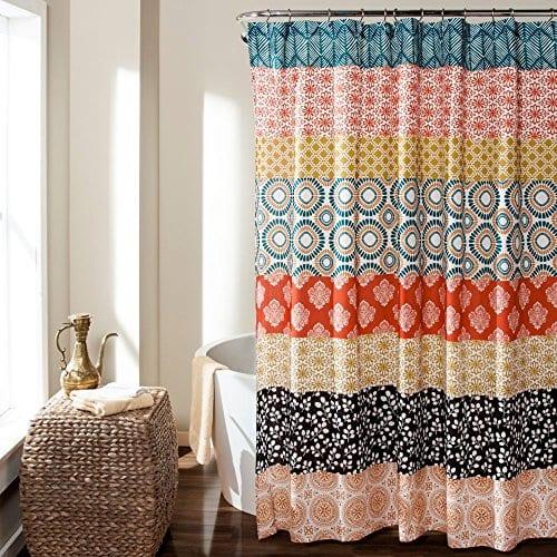 Lush Decor Bohemian Stripe Shower Curtain 0