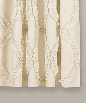 Lush Decor Lush Dcor Avon Single Window Curtain Panel 63 X 54 Ivory 0 0 300x360