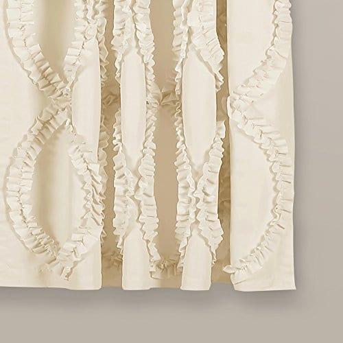 Lush Decor Lush Dcor Avon Single Window Curtain Panel 63 X 54 Ivory 0 0