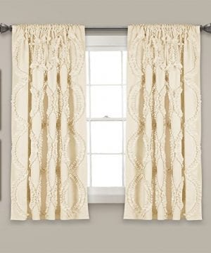 Lush Decor Lush Dcor Avon Single Window Curtain Panel 63 X 54 Ivory 0 300x360