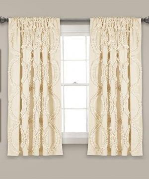 Lush Decor Lush Dcor Avon Single Window Curtain Panel 63 X 54 Ivory 0 300x360