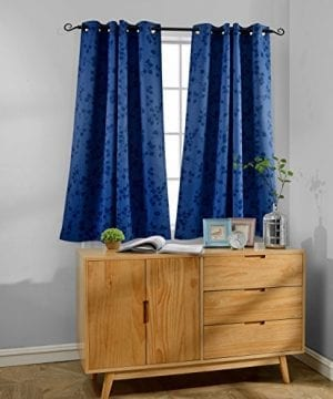 MYSKY HOME Twigs Fashion Design Print Thermal Insulated Blackout Curtain With Grommet Top 0 300x360
