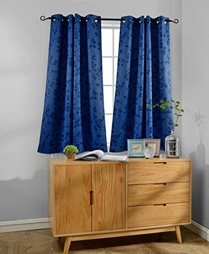 MYSKY HOME Twigs Fashion Design Print Thermal Insulated Blackout Curtain With Grommet Top 0