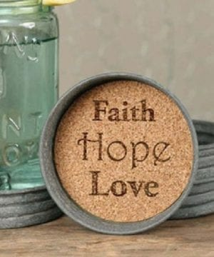 Mason Jar Lid Coaster Faith Hope Love Mason Jar Lid Coaster Faith Hope Love 0 300x360