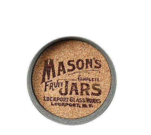 Mason Jar Lid Coaster With Mason Jar Logo Set Of 4 0