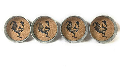 Mason Jar Rooster Lid Coaster Pack Of 4 0 1