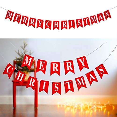 Christmas Banners.Merry Christmas Banner 14 Pcs 16ft Rustic Christmas Banners 3d Letters Non Woven Fabric Banner Rustic Christmas Garland With A 5 Meters