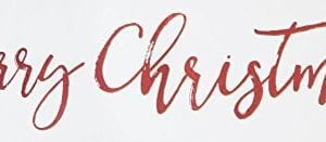 Merry Christmas Script Whitewash 24 X 75 Solid Wood Plank Wall Plaque Sign 0 300x131