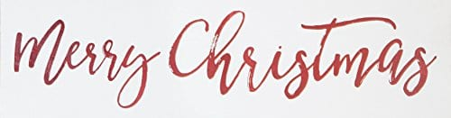 Merry Christmas Script Whitewash 24 X 75 Solid Wood Plank Wall Plaque Sign 0