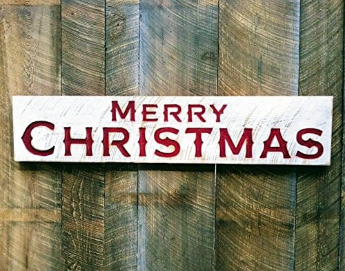 Merry Christmas Sign Large 48x10 Porch Holiday Decor 0 1