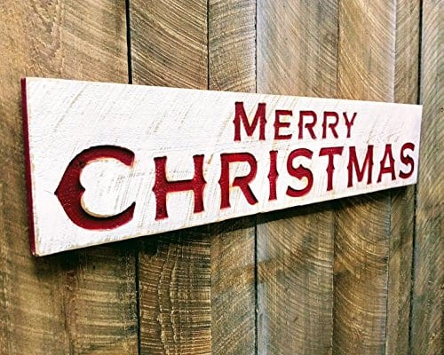 Merry Christmas Sign Large 48x10 Porch Holiday Decor 0