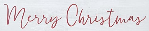 Merry Christmas Whitewash 12 X 25 Pine Wood Tabletop Stick Sign 0