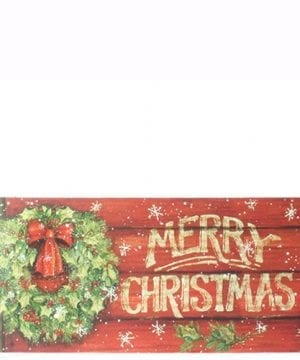 Merry Christmas Wreath Sign 0 300x360