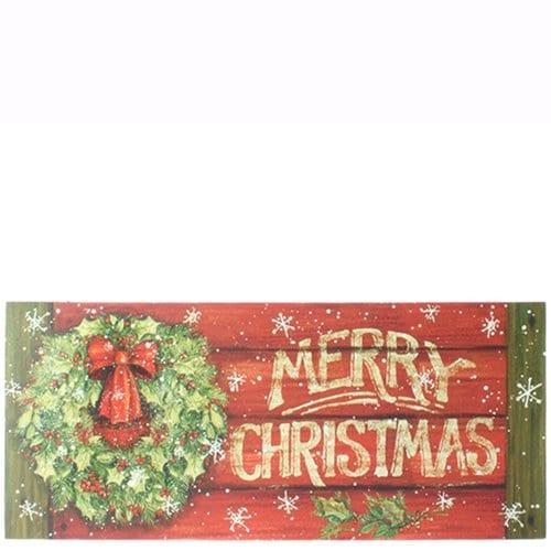 Merry Christmas Wreath Sign 0