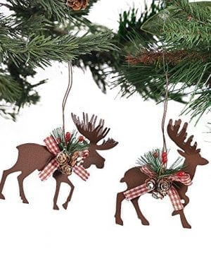 Metal Die Cut Moose Deer Christmas Ornaments 6 Pcsset 3 12 X 4 0 300x360