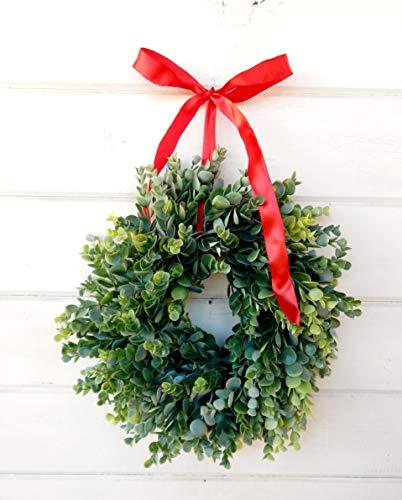 Mini Eucaplyptus Farmhouse Christmas Wreath Farmhouse Goals