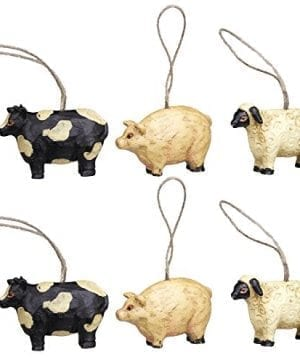 Mini Farm Animal Ornaments Set6 15 0 300x360