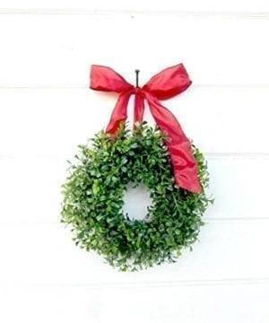 Mini Window Wreath MINI Boxwood Wreath Christmas Wreath Holiday Wreath Farmhouse Wreath Kitchen Decor Farmhouse Decor SCENTED Wreath Small Wreath Holiday Home Decor Christmas Decor Gifts 0 300x360
